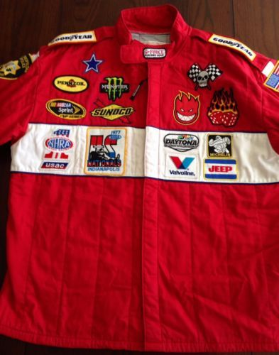 Nascar-Las-Vegas-Motor-Speedway-Rare-G-Force-Racing-Jacket-Red-XLG-039-PATCHED-039