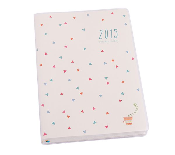 This 2015 A5 Weekly Diary is both pretty and practical. This stylish 2015 Diary includes weekly and monthly views as well as beautiful hand drawn illustrations and a handy PVC jacket to keep clean all year long.