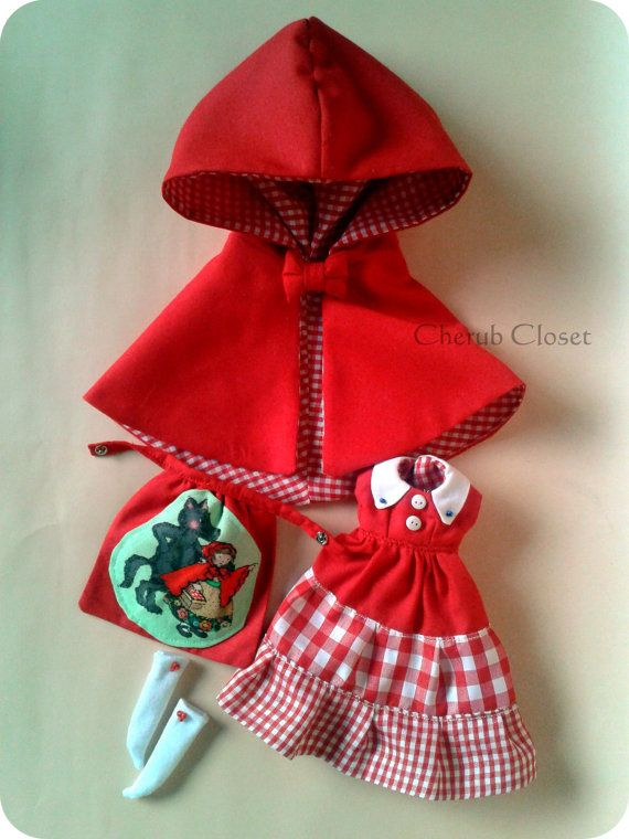 Riding Hood and the Big Bad Wolf set for Blythe by cherubcloset