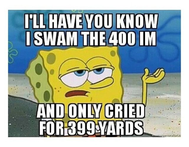 Ive only swam it onne, and I died after the 100 fly. There was still 300 yards to go! uhhhh :P