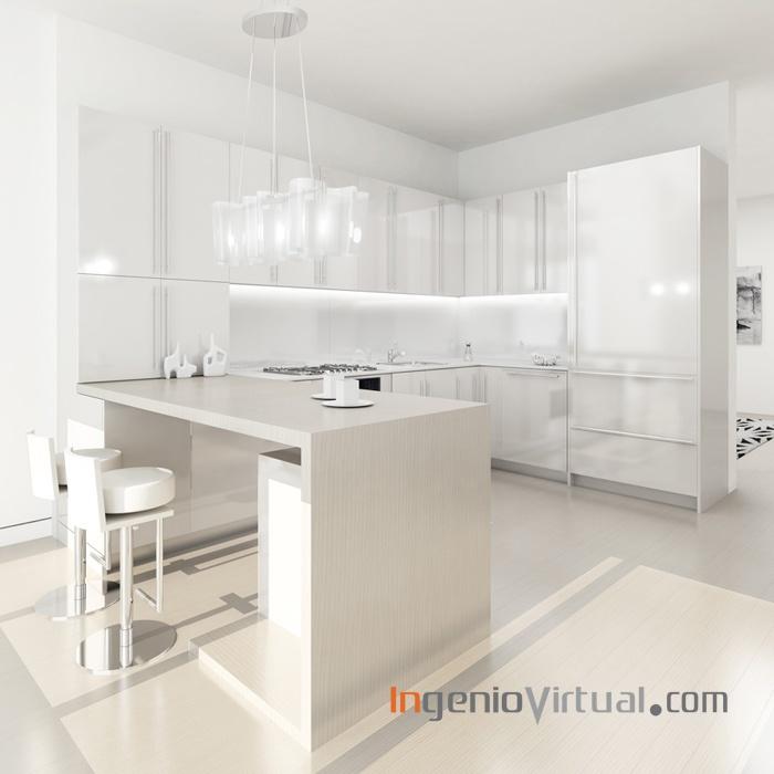 ingeniovirtual.com - Infografía para proyecto de cocina en piso particular.