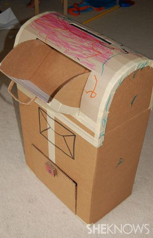Cardboard mailbox and other cardboard ideas!