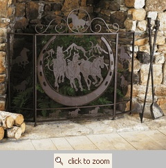 Running Horses Fireplace Screen Western Things Pinterest Running Fireplaces And Fireplace