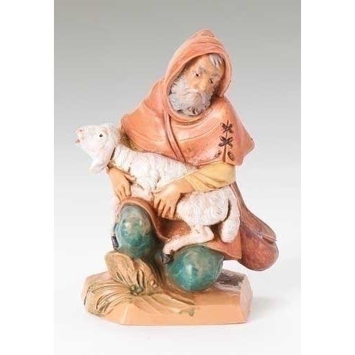 """5"""" jeremiah nativity figure fontanini. 5""""SCALE  Polymer.  Gift Box.<5"""" Fontanini Sets & PiecesRoman, Inc.5"""" Jeremiah Nativity Fig>"""