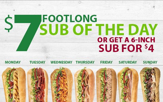 subway canada wednesday special
