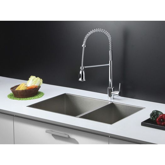 """Ruvati 29"""" x 19"""" Kitchen Sink with Faucet"""