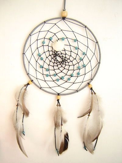 attrape r ves indien dreamcatcher 21 cm perle bleu just lovely pinterest dreamcatchers. Black Bedroom Furniture Sets. Home Design Ideas