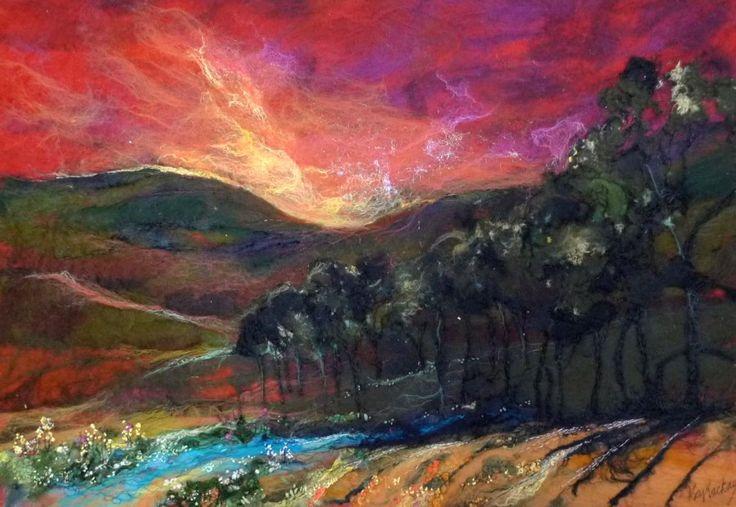 Moy Mackay, Sundown by the Tweed, Mixed Media | Scottish Contemporary Art