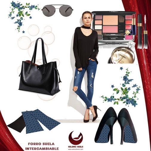 Outfit casual con accesorio para la suela del tacón, láminas intercambiables en http://www.seleneheels.com #seleneheels  #tacones #moda #zapatos #amolostacones #accesorios #estilo #tendencias #compras #colombia #boutique #hechoencolombia #hechoamano #mujer #femenina #modacolombia #ropa #shoes #heels #heelsaddict #fashion #fashionista #outfit #outfits #accesories #blogger #dress #trend #trendy #polyvore