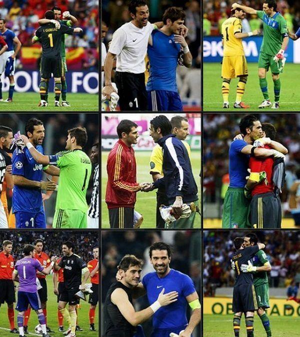 Dwóch wielkich goalkeeperów i ich spotkania na boisku • Iker Casillas i Gianluigi Buffon najlepszymi bramkarzami XXI wieku • Zobacz >> #casillas #buffon #football #soccer #sports #pilkanozna