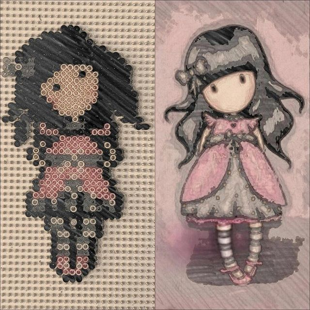 Gorjuss hama mini beads by ecohama_hama_beads