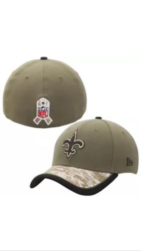 New Era NFL New Orleans Saints Salute To Service Olive/Camo Hat-M/L-Sold Out