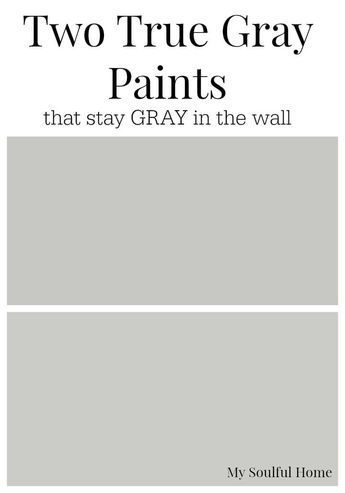 Two True Gray Paint Colors