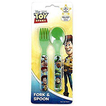 Fork+Case Baby infant Easy Safety Feeding flatware BPA FREE Self Spoon Edison