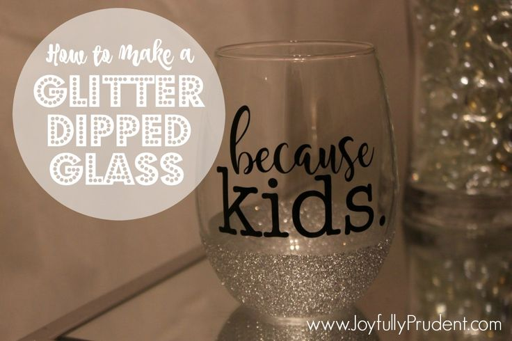Glitter Dipped Mug and Wine Glass.  A DIY tutorial on how to make a glitter dipped wine glass and coffee mug. Super easy gift idea. Step by step instructions.