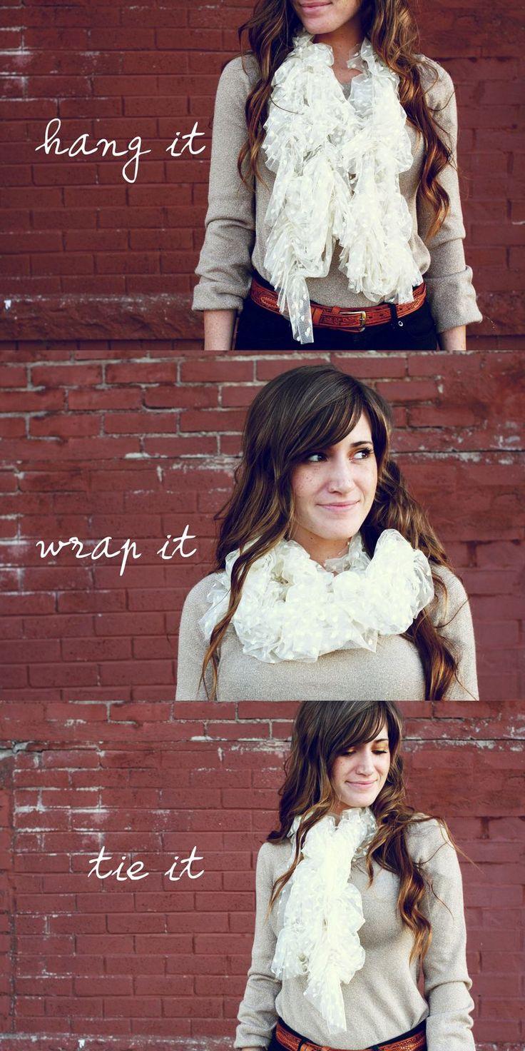 DIY: lace scarf