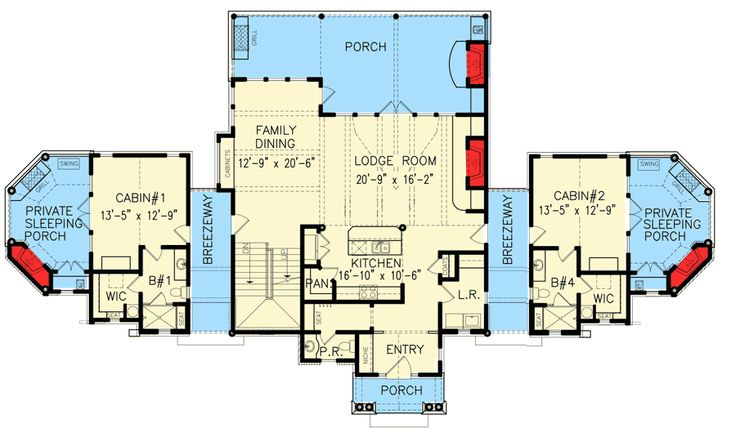 1000 images about build ranch on pinterest house for Family compound floor plans