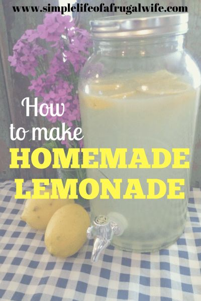 How to make homemade lemonade.  Make this lemonade recipe all Summer long to keep yourself cool during the hottest months!  Great for when company is over.