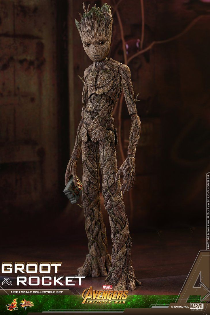 Hot Toys Reveals Their Teenage Groot And Rocket Raccoon From