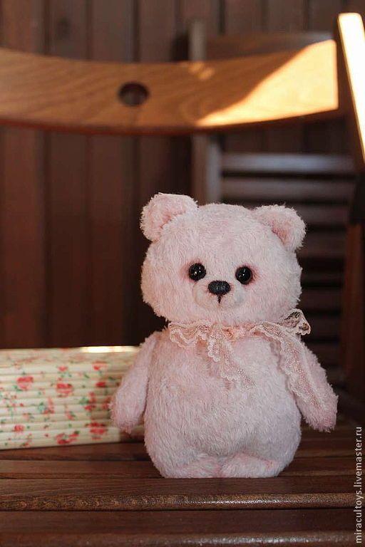 Мишка Клубничкин - мишка ручной работы, мишка в подарок, милый подарок