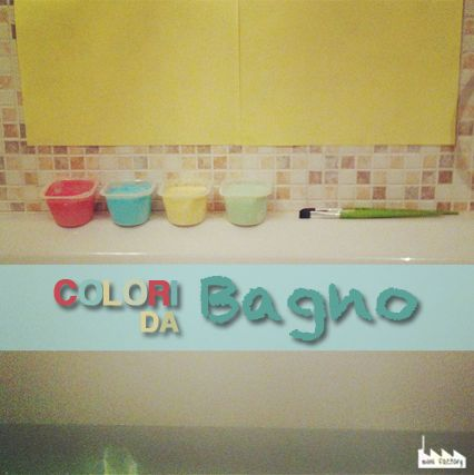 Colori da Bagno ricetta. How to make paint bath for toddler, pre-schooler & kids activity