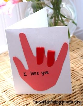 "My kindergarten teacher taught us ""I love you"" in sign language.  I still use it to this day."
