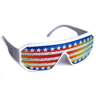 Macho Man American Flag Sunglasses, Men's