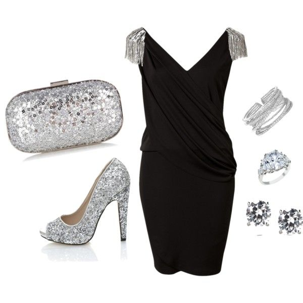 """black and silver"" by nikousek on Polyvore"