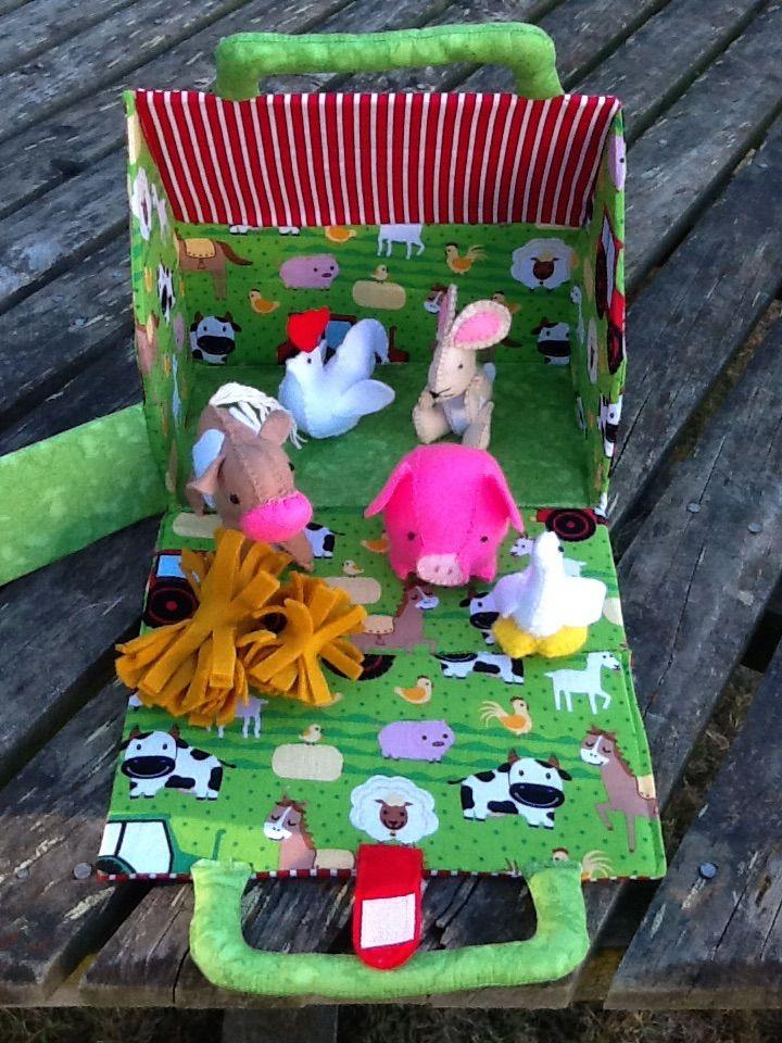 Kids farm house with animals