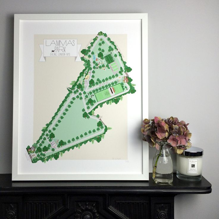 Lammas Park Limited Edition Illustrated Map Print by Charlotte Berridge