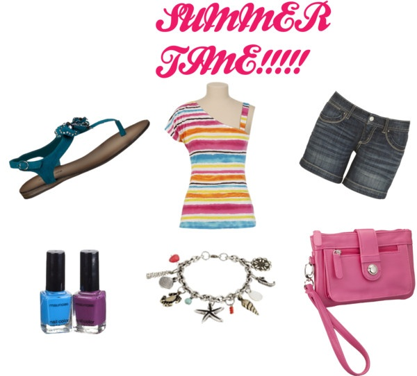 SUMMER TIME!!!!!, created by carlie-130 on PolyvoreSummer Time