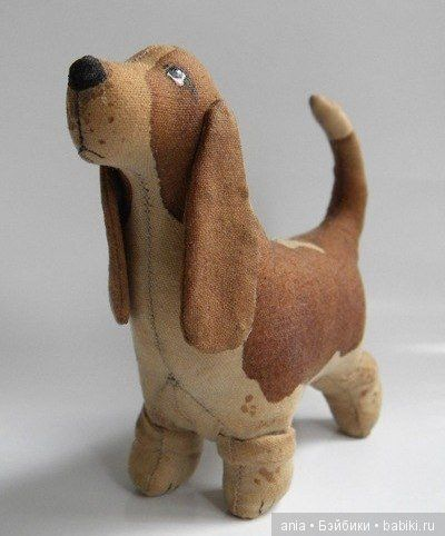 Выкройка текстильной игрушки. Собака / Собака / Бэйбики. Куклы фото. Одежда для кукол