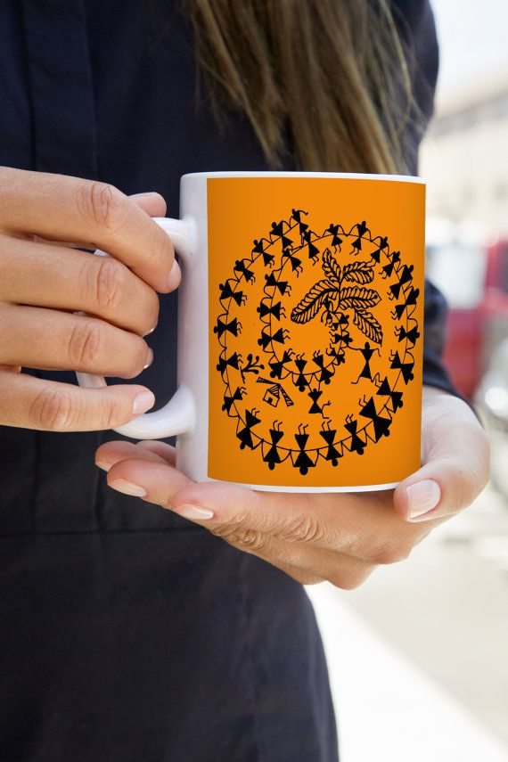 Human Merry Go Round - Mggk Signature Ink Art Mug  #designer #art #coffee #inkart #indianart #pendesigns #handdesigned #zentangle #abstract #mugs #designer #unique #royalart #elephant #blue #white #mandana #human #merrygoround #christmas #holiday #gits #buynow