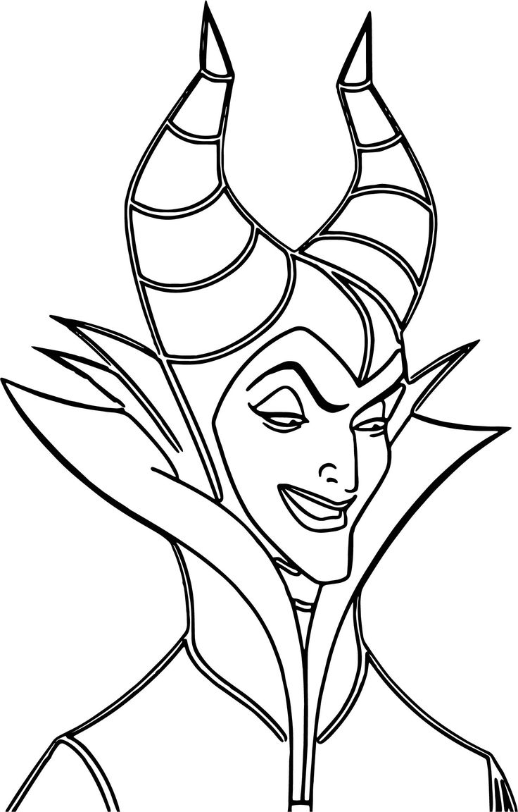 Awesome Maleficent Evil Cartoon Coloring Page Maleficent
