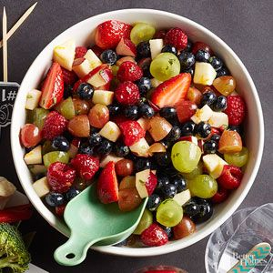 Honey Fruit Salad - skip the refined stuff, and sweeten this fresh fruit salad with a drizzle of honey!