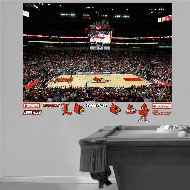 Fathead Louisville Yum! Center Basketball Mural Wall Graphic