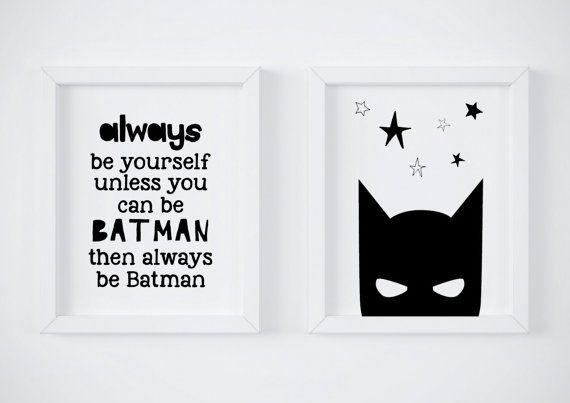 Batman batman print batman cadeau jongens kwekerij print