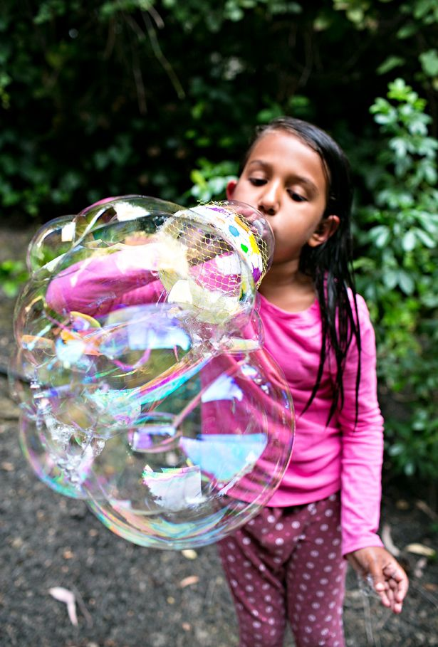 350 best images about kids art on pinterest yarns for for How to make a bubble blower from a water bottle