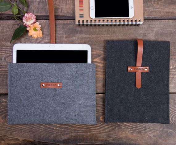 Set of 2 tablet cases ipad air sleeve custom size tablet by POPEQ