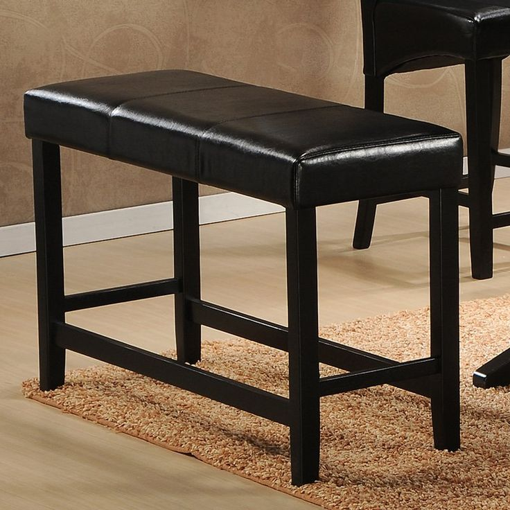 breakfast bar bench.  25 in H. Homelegance Papario Counter Height Bench - Black - $88.87 @hayneedle