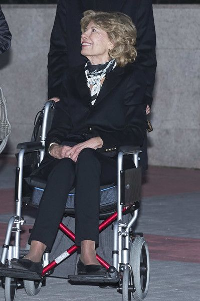 Tessa de Baviera attends a funeral chapel for Alicia de Borbon Parma, Duchess of Calabria, at La Paz morgue on March 28, 2017 in Madrid, Spain.