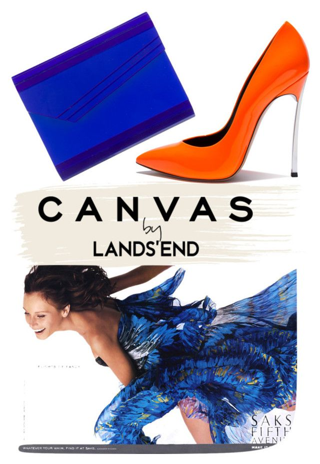 """""""CANVAS by Lands'end"""" by drerak ❤ liked on Polyvore featuring Lands' End, Jimmy Choo, Casadei, jimmychoo, MyStyle and fashionset"""