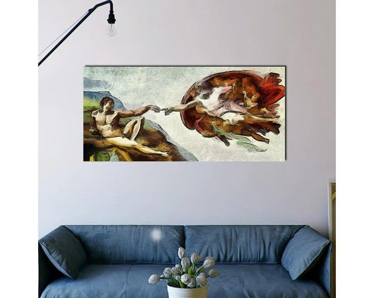 The creation of Adam reart,  (original by Michelangelo), πίνακας σε καμβά,34,90 €,https://www.stickit.gr/index.php?id_product=19787&controller=product, Δείτε το !