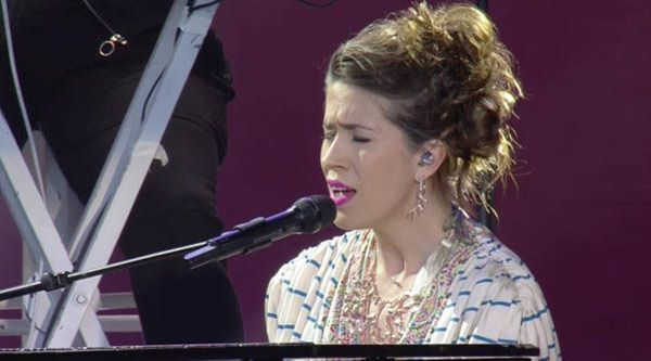 Imogen Heap performs at One Love Manchester