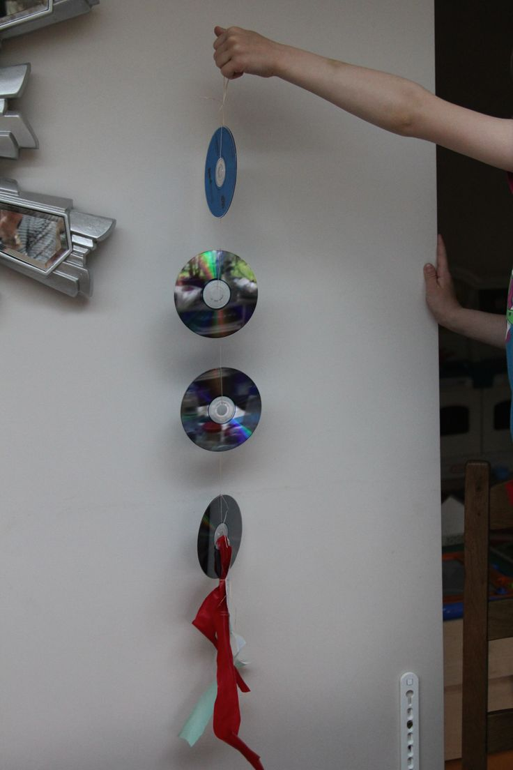 Homemade Recycled Bird Scarer Using Cd S And Cut Up