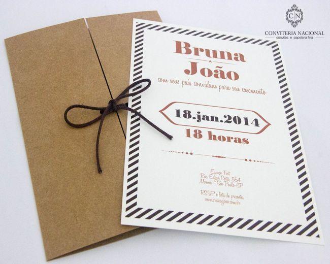 Envelope em craft para um convite descontraído.