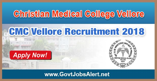 CMC Vellore Recruitment 2018 - Hiring Sr. Chaplain Gr. V Post: Apply Now !!!  The Christian Medical College Vellore – CMC Vellore Recruitment 2018 has released an official employment notification inviting interested and eligible candidates to apply for the positions of Sr. Chaplain Gr. V. The eligible candidates may apply to the posts in the prescribed format available in official website (given below).   #2018 #Bachelor'sDegree #Bachelor'sDegreeJob #ChristianMedicalCol