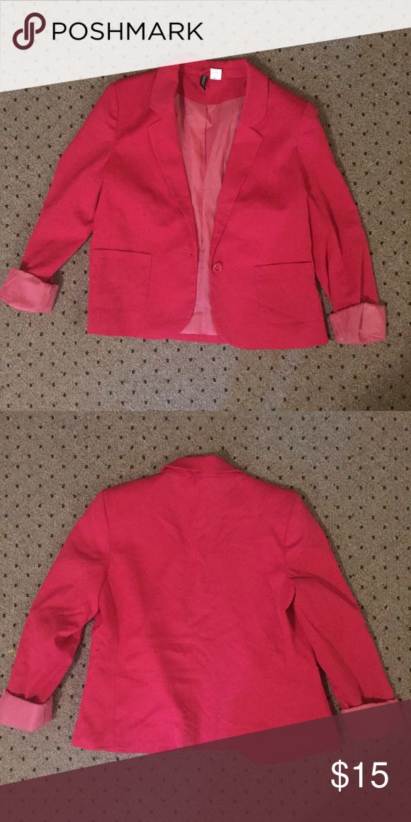 Pink blazer Hot pink blazer - barely worn, just not my color! Jackets & Coats Blazers