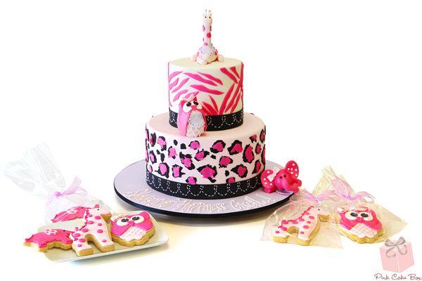 Leopard & Zebra Print Cake for Giselle's Baby Shower