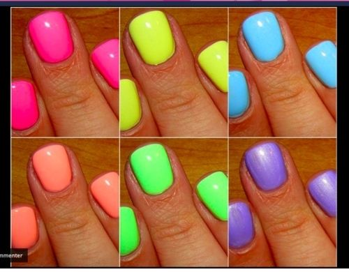 : Neonnail, Nails Colors, Summer Nails, Nails Polish, Neon Colors, Neon Nails, Summer Colors, Bright Nails, Bright Colors